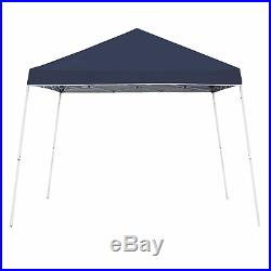 Z-Shade 10' x 10' Angled Leg Instant Shade Canopy Tent Portable Shelter, Navy