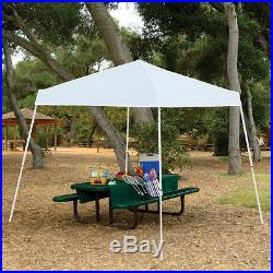 Z-Shade 10' x 10' Angled Leg Instant Shade Canopy Tent Portable Shelter, White