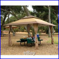Z-Shade 13 x 13 Foot Instant Gazebo Canopy Outdoor Shelter Tan Brown (Open Box)