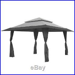 Z-Shade 13 x 13 Foot Instant Gazebo Canopy Tent Outdoor Patio Shelter, Gray