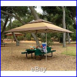 Z-Shade 13 x 13 Foot Instant Gazebo Canopy Tent Outdoor Patio Shelter, Tan Brown