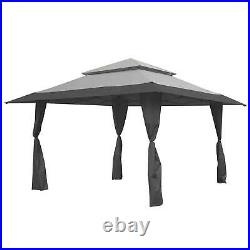 Z-Shade 13 x 13 Foot Instant Gazebo Outdoor Canopy Patio Shelter Tent, Gray