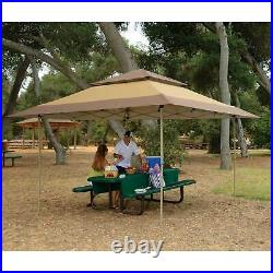 Z-Shade 13 x 13 Foot Instant Gazebo Outdoor Canopy Patio Shelter Tent, Tan Brown