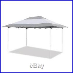 Z-Shade 14x10' Prestige Instant Canopy Outdoor Shelter, Grey & White (Open Box)