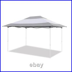 Z-Shade Prestige 14' x 10' Instant Canopy Patio Shelter, Grey & White (Open Box)